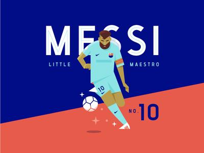 Little Maestro sports player illustration futbol soccer messi