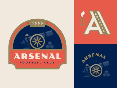Gunners💥 illustration logo england sports soccer football crest patch arsenal cannon