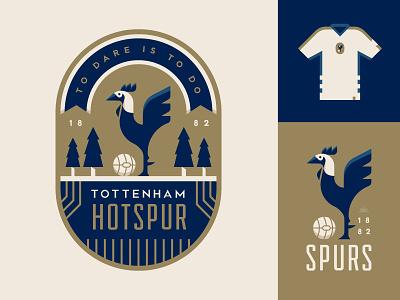 Spurs sports england logo football soccer illustration crest badge tottenham spurs