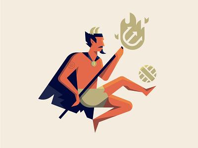 Dancin' Devil mascot character dancing illustration football soccer united manchester devil
