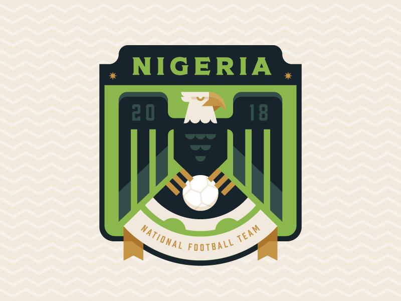 Nigeria africa crest illustration logo badge football soccer eagle nigeria