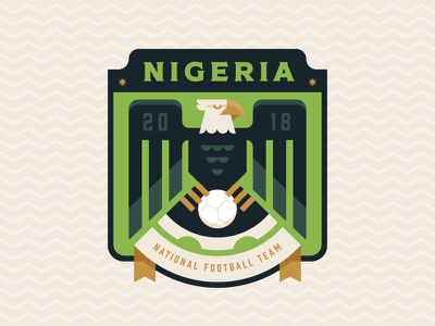 Nigeria africa crest illustration logo badge football soccer eagle nigeria