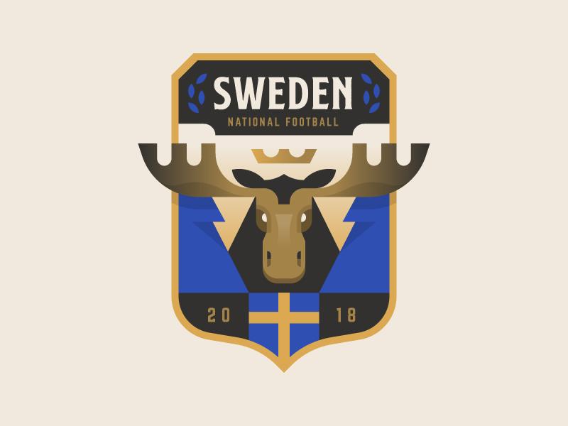 Sweden moose logo badge crest cup world soccer football sweden