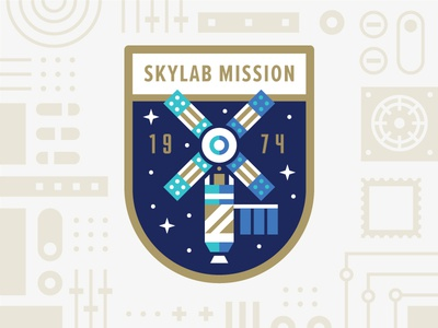 Skylab Mission space nasa skylab mission patch badge illustration usps logo