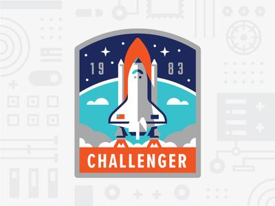 Challenger space nasa shuttle challenger mission patch badge illustration usps logo