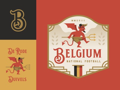 Belgium illustration crest logo badge football soccer cup world devil belgium