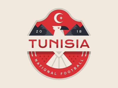 Tunisia illustration logo eagle tunisia football soccer cup world badge