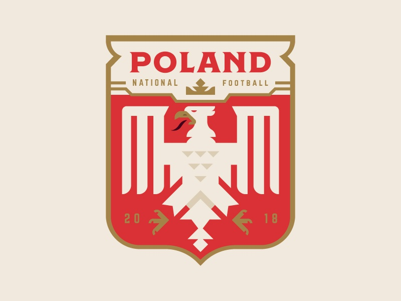 Poland cup world shield crest illustration logo badge football soccer eagle poland