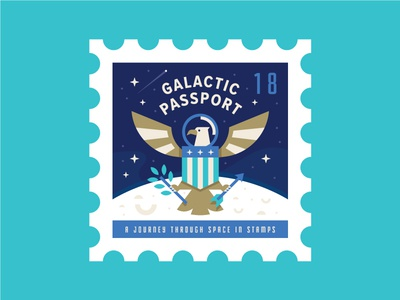 Space Eagle Stamp