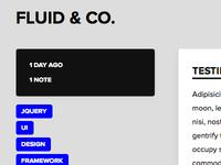 Fluid & Co. - Tumblr Theme