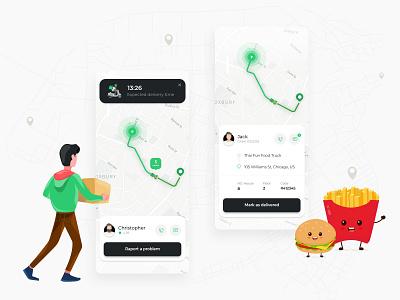 On Demand App Mobile App tablet delivery app mobile ui ui ux mobile app delivery mobile design