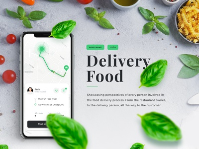 Delivery Food | Mobile typography booking app app ux design illustration logo mobile delivery app branding ui
