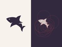 Shark mark + grid