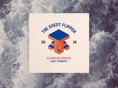 Event Flipper II party event brand mark logo