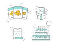 Booksy mini illustrations I
