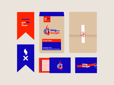 King Burger pt II / For Sale bar burger food restaurant lion design graphic identity brand mark logo