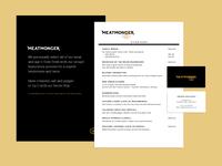 Menu and business cards design