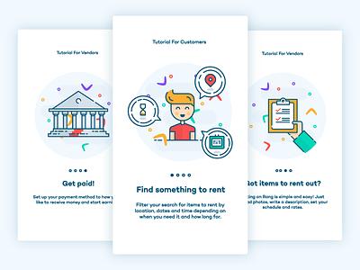 Rang Onboarding Illustrations identity design icon logo app branding illustration