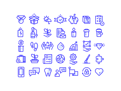 Icon set freelance illustration symbol identity branding vector job hire work logo art artwork icons blue grid graphic design set marijuana icon