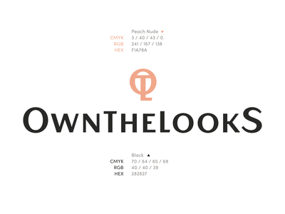 OwnTheLooks Logo Design & Branding clothing design clothing label clothing brand wordmark icon graphic design identity branding brand mark logo