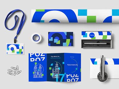 Poznan City Visual Identity Full Project symbol graphic work icon design hire polska poland p mark fluid vectors corporate corporate identity identity branding brand city poznan logo