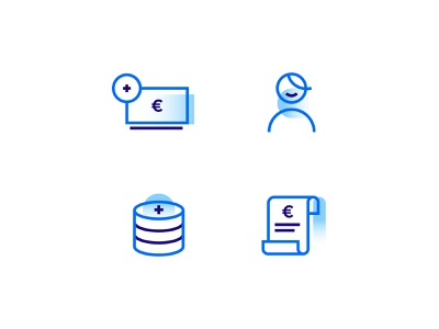 Icon set blue design icon set icons icon money