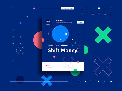 Shift Money Conference Identity Design graphic work brand logo design identity branding 2018 money dev conf conference shift