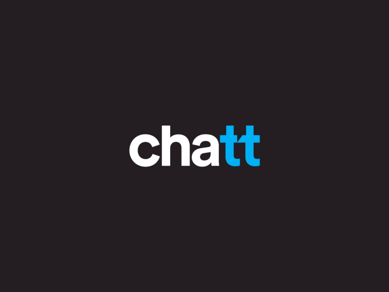 Chatt + hidden chat symbol Logo Concept identity brand speak message speak bubble bubble chat logo