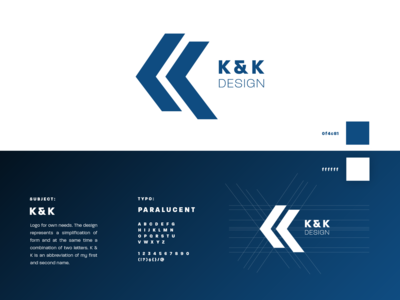 K & K DESIGN logotype