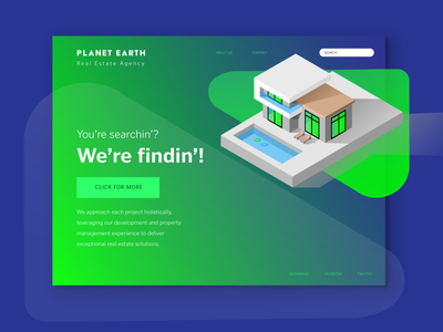 Planet Earth - Real Estate Agency Website design proposal