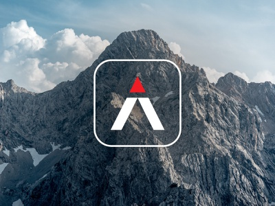 Trail symbol & app icon isotipo isotype symbol application climbing mountaneering hiking sports logo logo design logo icon design icon mountain logo mountain trail running trail flat design flat app icon app
