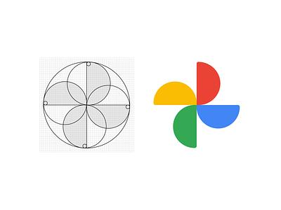NEW Google Photos icon logo grid logo construction logotipo logo designer logo design logotype logo icono google product flat design flat logo grid logo grid icon design icon google design google photos google