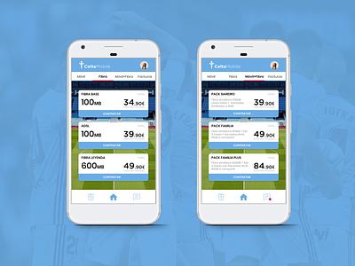 Celta Mobile App app app design ui ux adobe xd football club ui design ui phone app mobile application mobile app design mobile design mobile app mobile ui galicia vigo celta