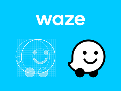 NEW Waze icon restyling flat icon flat logo process logotipo logotype icon grid logo grid grid icon design logo design logo icono icon wazer waze