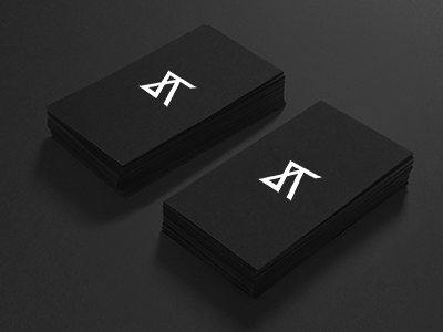 logo identity / Adam Švejda basic black clear identity initials simply lines logo card white personal bussines