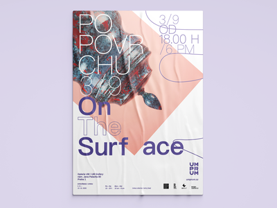 On The Surface | Exhibition graphic event visual art gallery objekt print poster typography prague exhibition