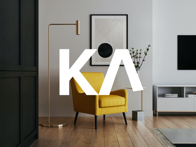 Kanape | Logo design visual vector objekt graphic typography prague logo brand branding furniture