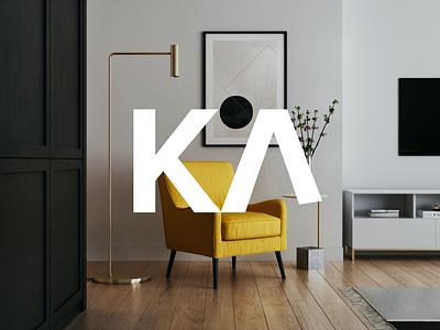 Kanape | Logo design visual vector objekt graphic typography prague logo brand branding furniture