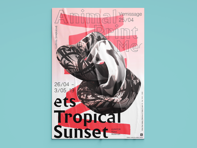 Poster | Animal Print colorful sunset tropical animal visual art gallery 3d objekt print poster graphic typography prague exhibition