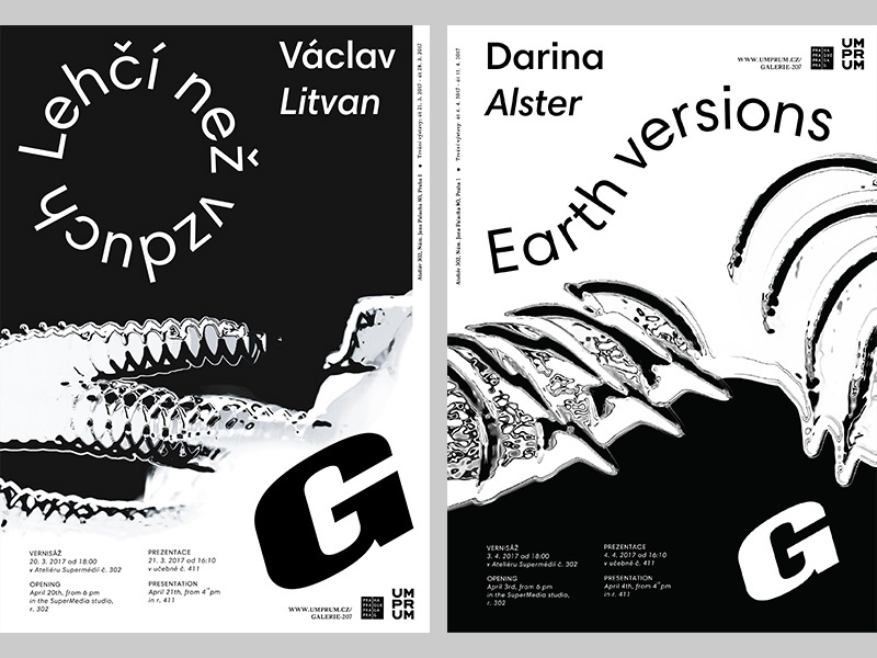A new wave of poster series / Gallery 207 attempts white black photography print poster design objekt typography art work gallery