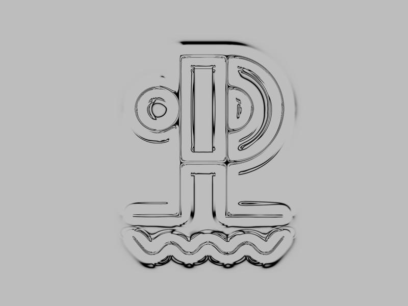 Old unused version of Ponton logo techno music flag black design graphic prague redesign new logo