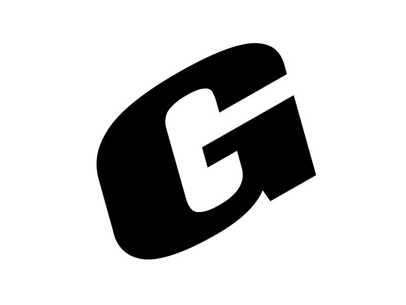 Logo for Galllery 207 g black typography gallery design graphic prague redesign new logo
