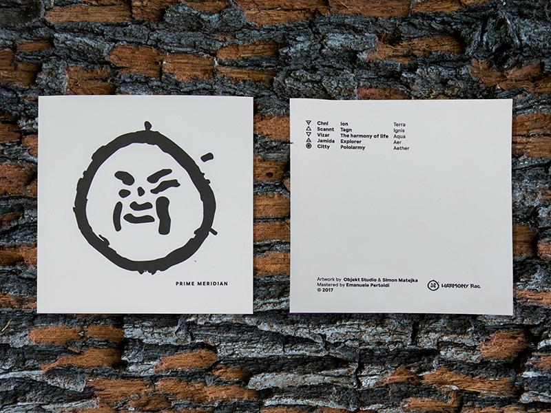 Cover EP / Prime Meridian white black gprahic prague logo design ep cover