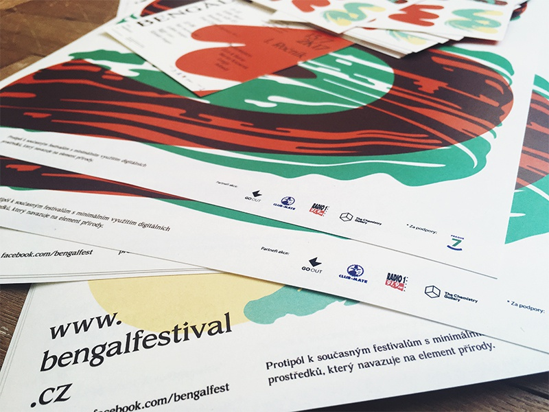 Bengál promotion materials music festival prague tag tube graphicdesign red design type posters promotion