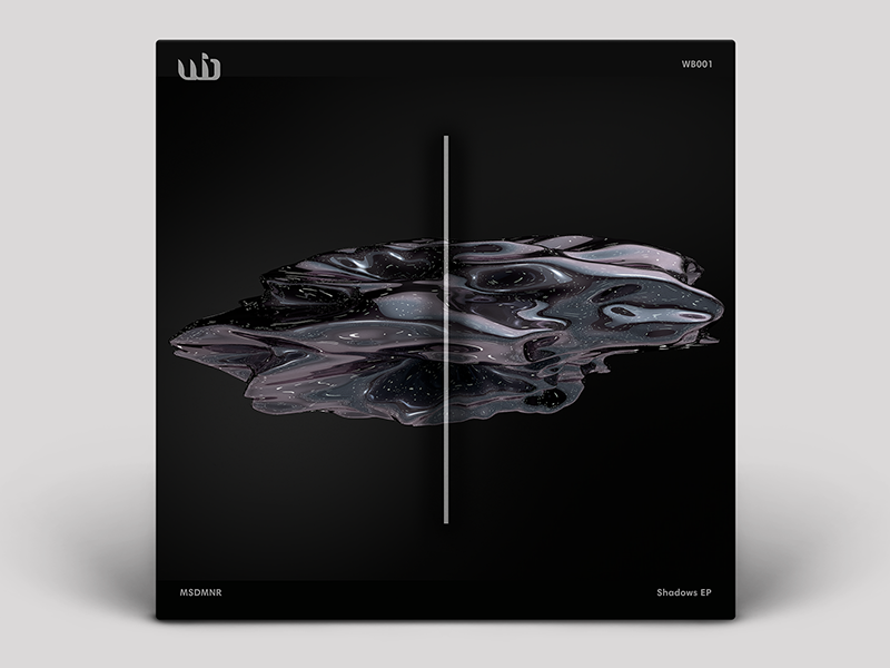 Cover EP for Whipbass (DE) ep vinyl cover label black white berlin identity minimal whipbass music techno