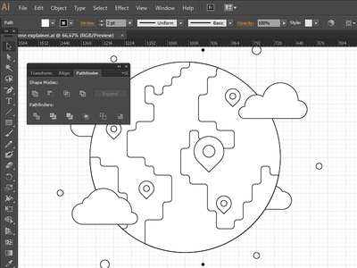 Earth adobe illustrator explainer earth wip