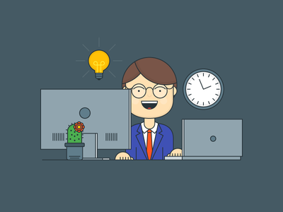 Have An Idea business outline illustrator flat explainer idea workplace