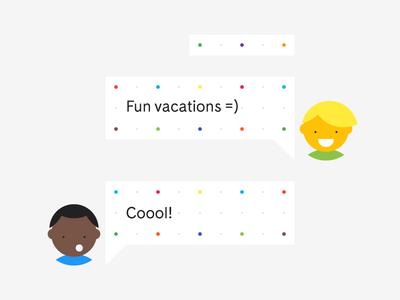 Fun Vacations minimal vacations characters chat
