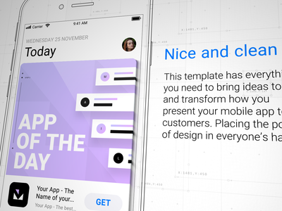 In-Store Mobile App Promo user interface ui shape layer promo presentation modular mockup mobile iphone ios display commercial appstore application app