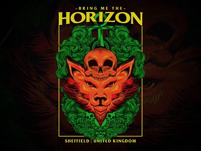 Bring Me The Horizon Fan Art tshirt band metal bmth vintage ornament mandala illustration engraving drawing design